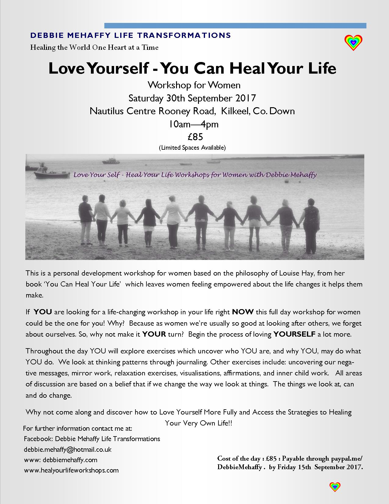 30th september 2017 love yourself you can heal your life saturday 30th september 2017 love yourself you can heal your life saturday workshop for women solutioingenieria Gallery